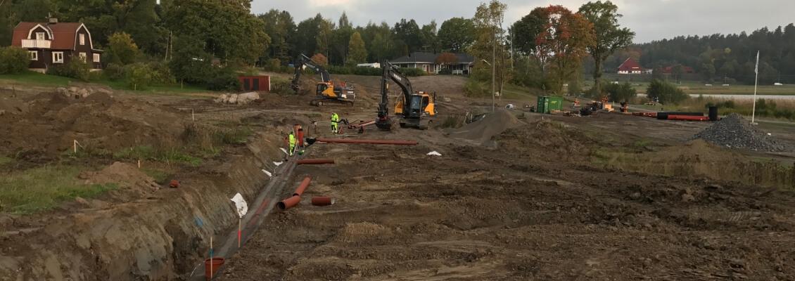 Rörläggning Fredrikstrandsvägen