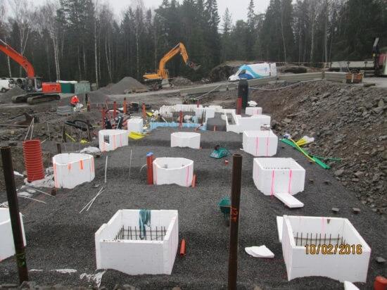 Grundläggningsarbeten, KV Embryot, Huddinge