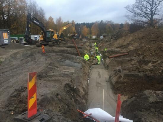Rörläggning Fredrikstrandsvägen slutfasen